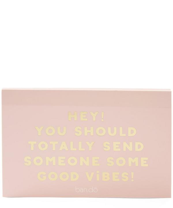 Good Vibes Postcard Book