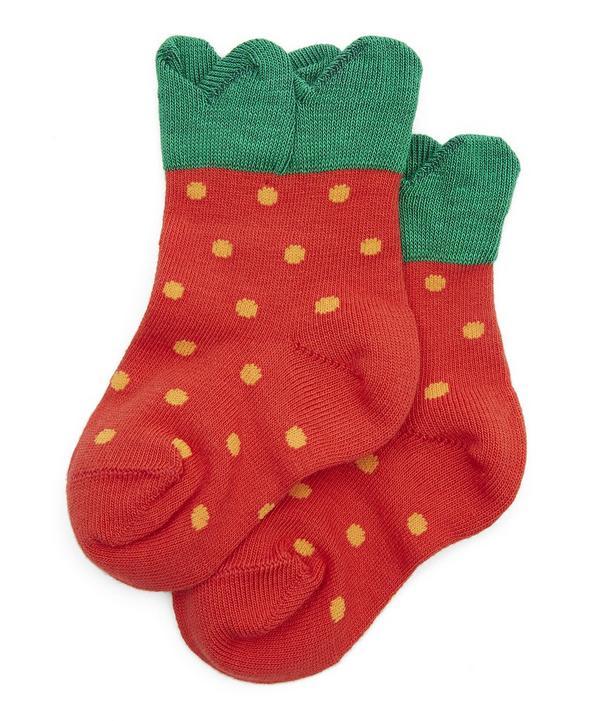 Mini Strawberry Crew Socks
