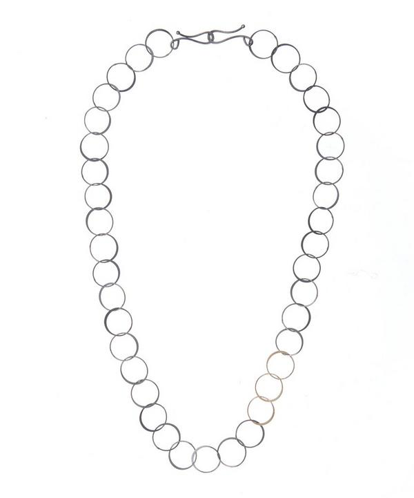 Melissa Joy Manning Gold and Silver Chain Necklace