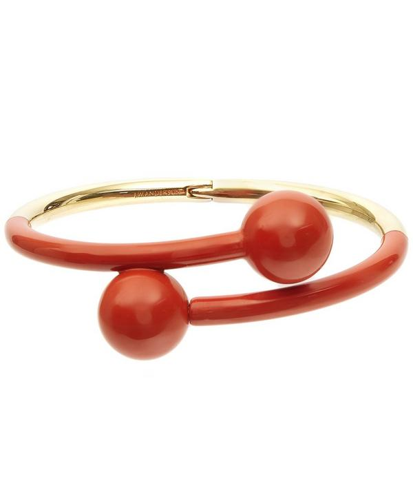 Gold-Plated Double Ball Bangle