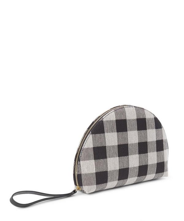 Checker Mini Moon Clutch
