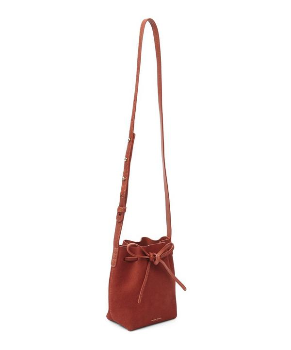 Mini Mini Suede Bucket Bag