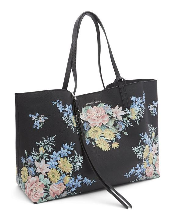 Small East West Bouquet Print Tote Bag