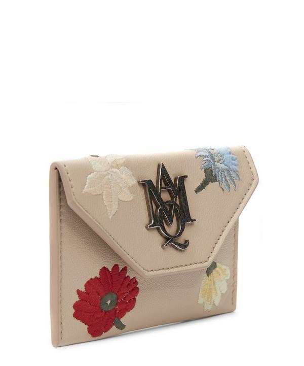 Insignia Floral Embroidered Envelope Card Holder
