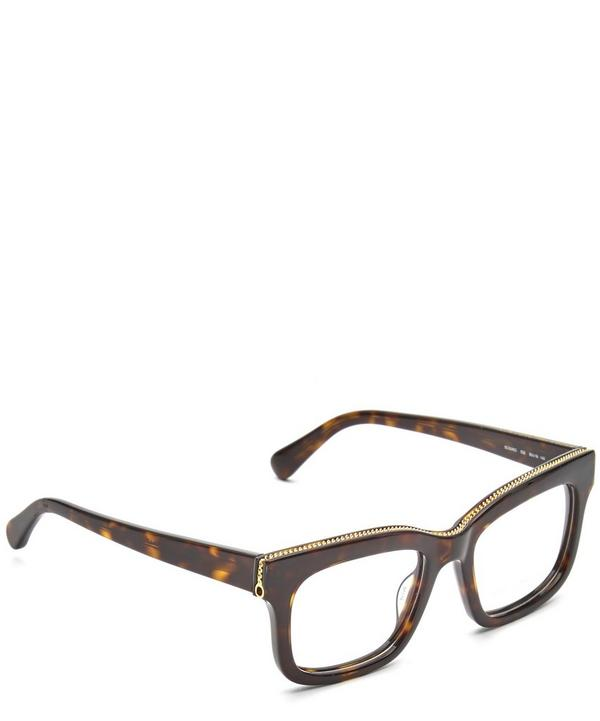 Square Chain-Trimmed Glasses