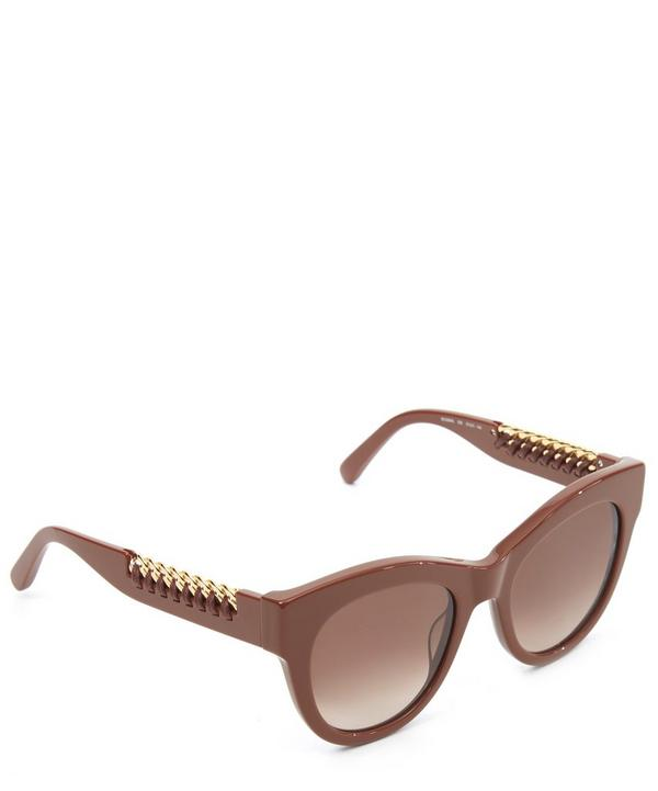 Falabella Whipstitch Chain Cat-Eye Sunglasses