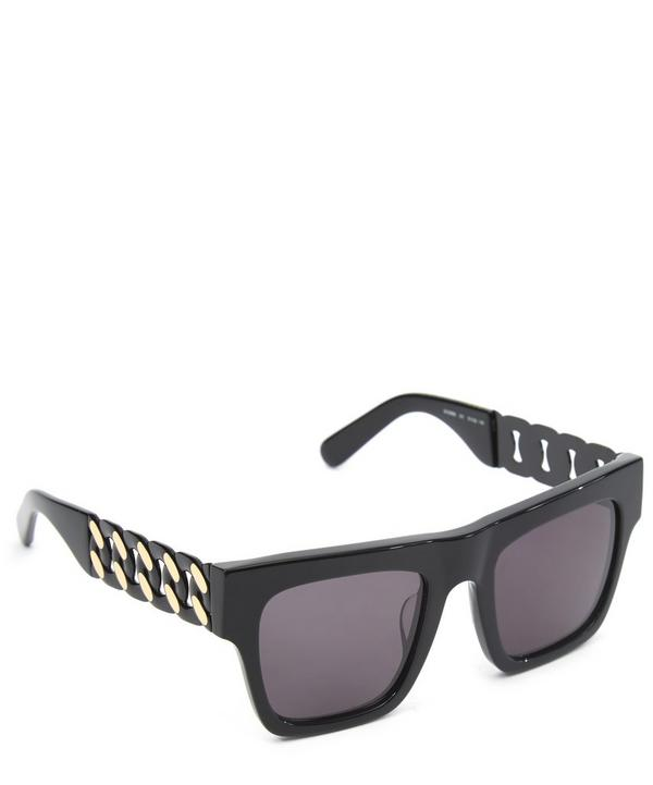 Chunky Chain Detail Square Sunglasses