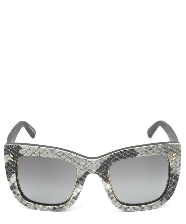 Stella McCartney Square Snake-Effect Sunglasses