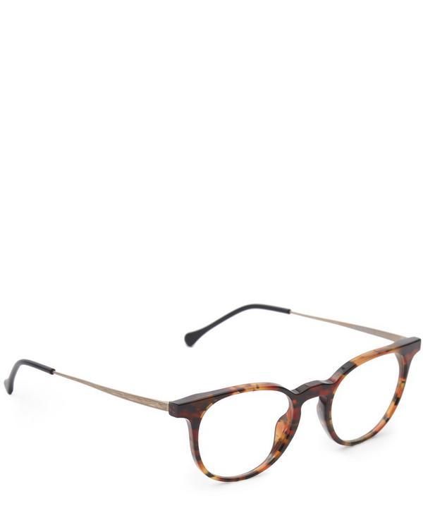 Morality Round Titanium Temple Sunglasses