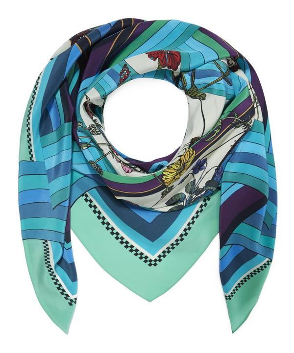Freaky Floral Silk Scarf