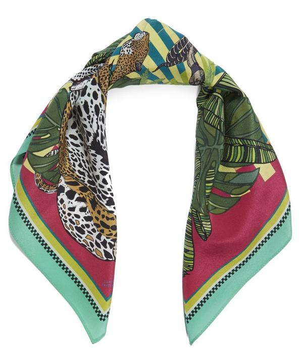 Small Eye of the Leopard Silk Scarf