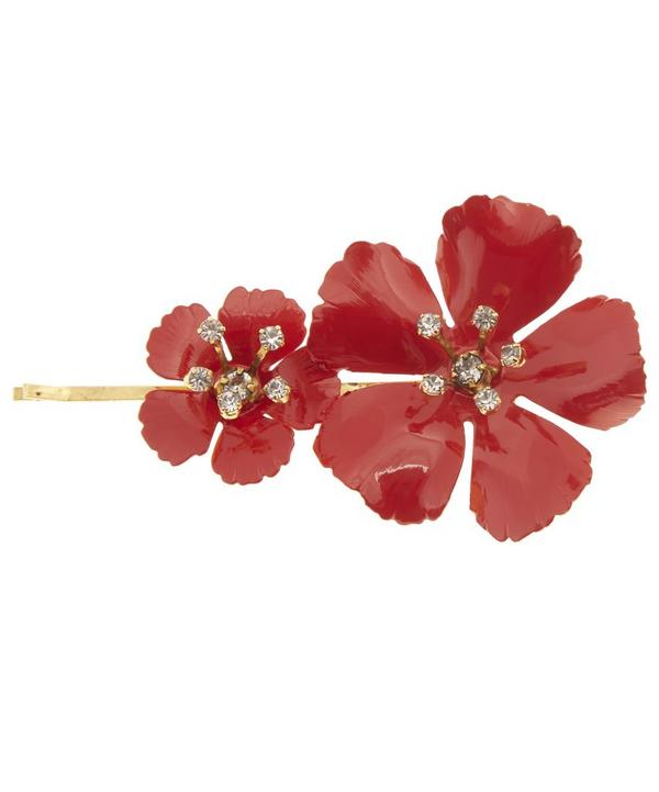 Gold-Plated Hand-Painted Blossom Bobby Pin