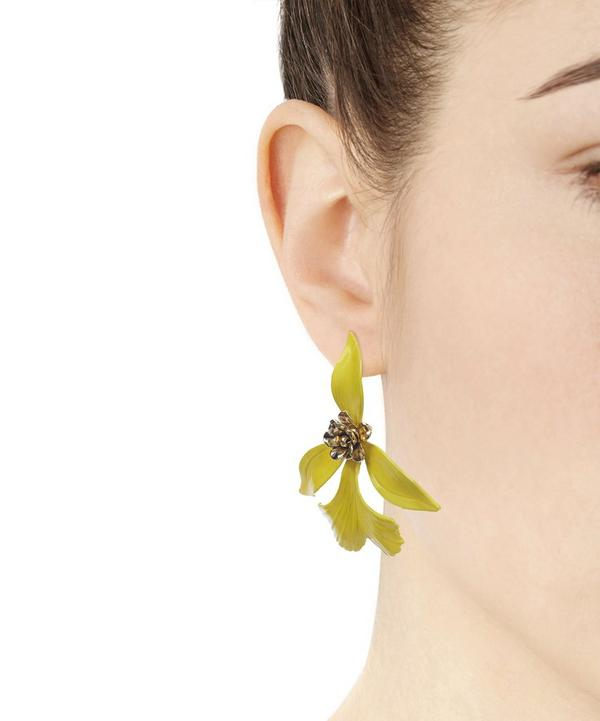 Hand Painted Orchid Earrings