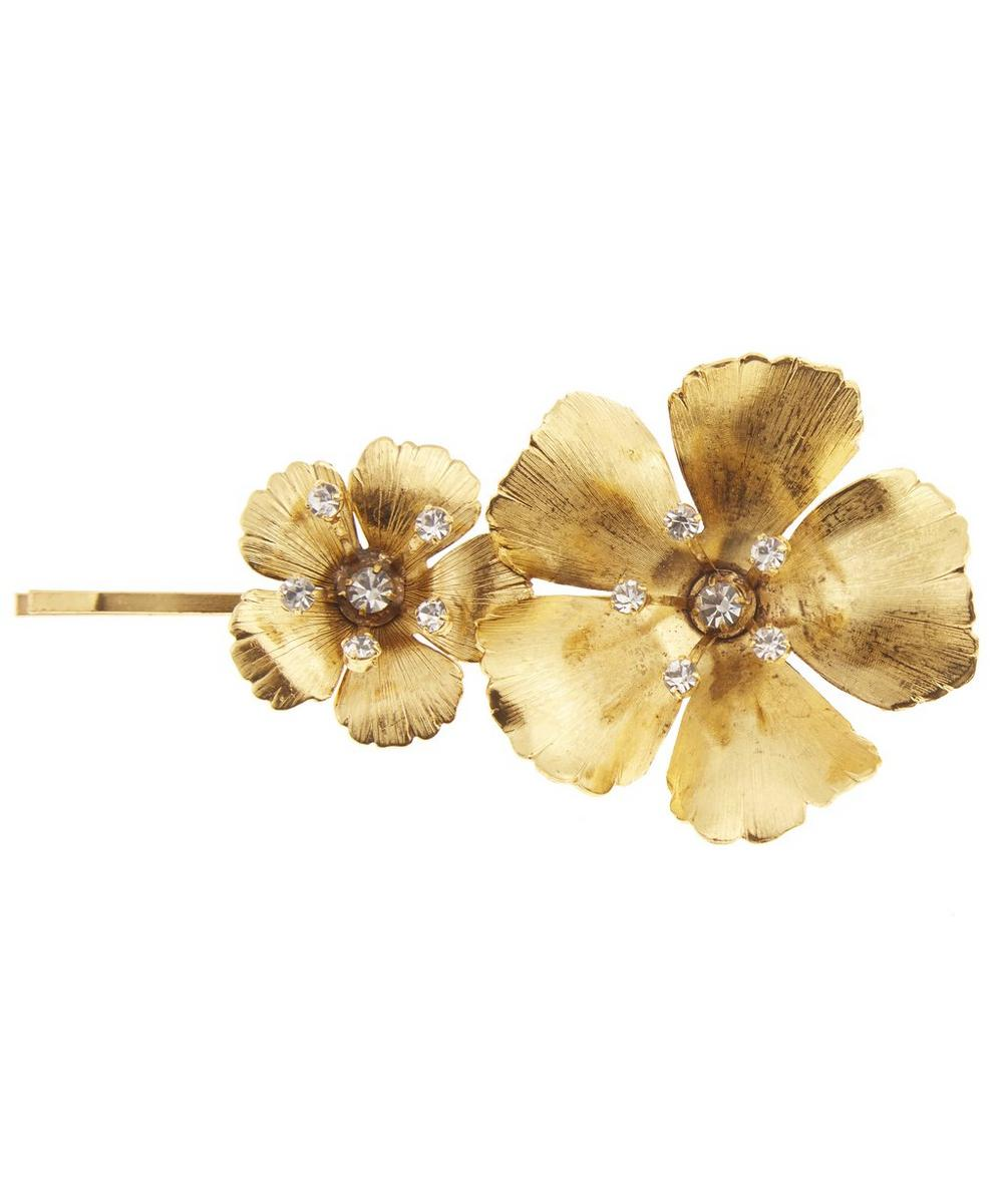 Gold-Plated Bell Floral Bobby Pin