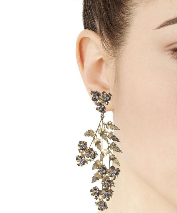 Jennifer Behr Gold-Plated Aveline Chandelier Leaf Drop Earrings
