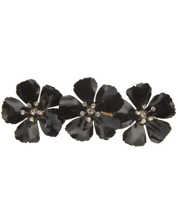 Gold-Plated Blossom Barette Hair Clip