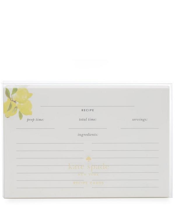 Lemons Recipe Card Refill