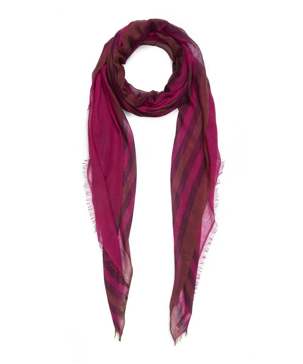 Rangoon Silk Cashmere Stripe Scarf