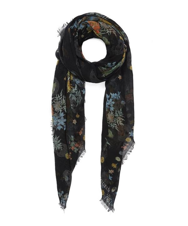 Island Bouquet Wool Cashmere Scarf