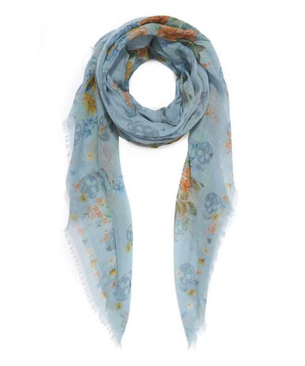 Island Bouquet Wool Cashmere Scarf