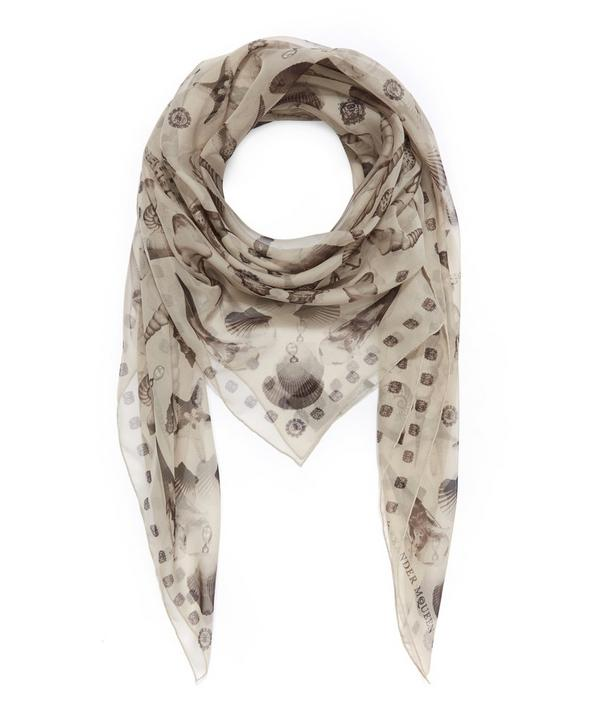 Ghost Shell Silk Chiffon Scarf