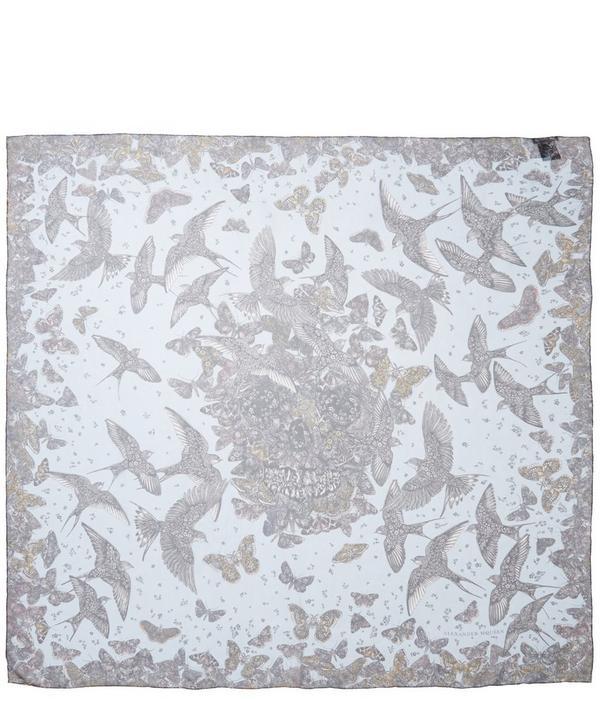 Wildflower Flight Silk Chiffon Scarf