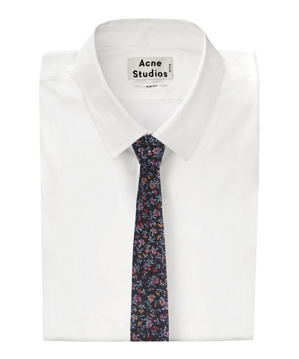 Floral embroidered tie liberty london