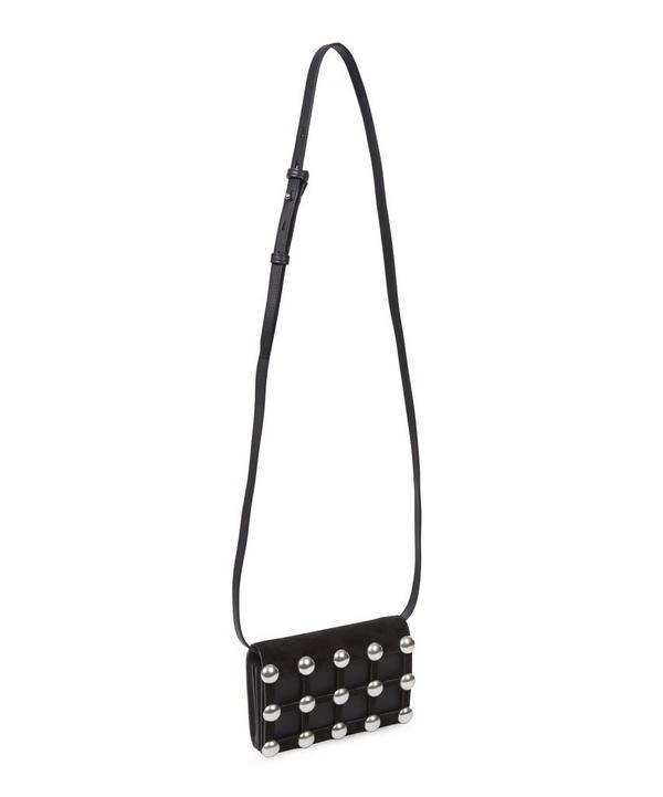 Prisma Studded Suede and Leather Shoulder Bag