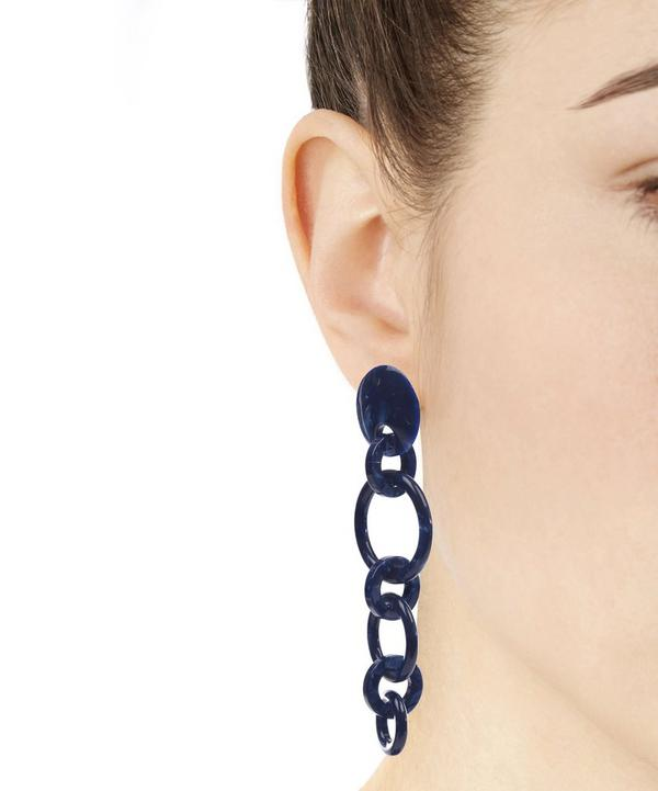 Acetate Wind Chime Hoop Earrings