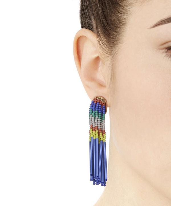 Striped Fringed Earrings
