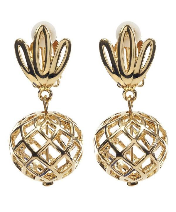 Gold-Plated Pineapple Earrings
