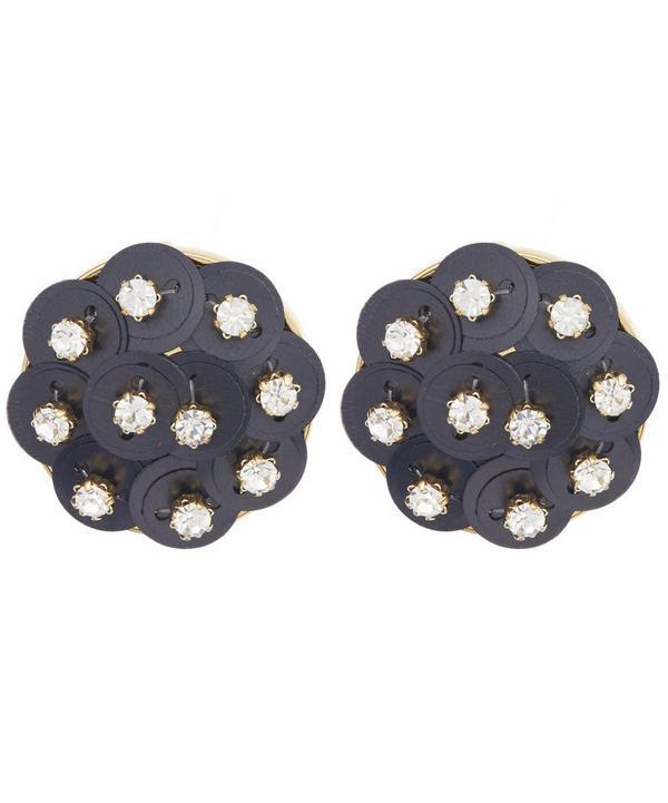 Crystal Poppy Clip-On Earrings