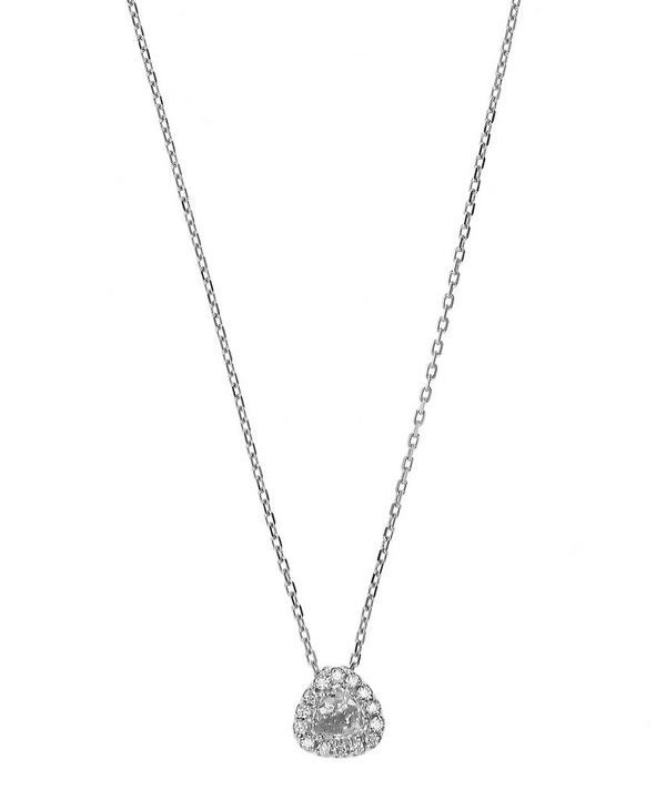 White Gold Soleil Trillion Diamond Necklace