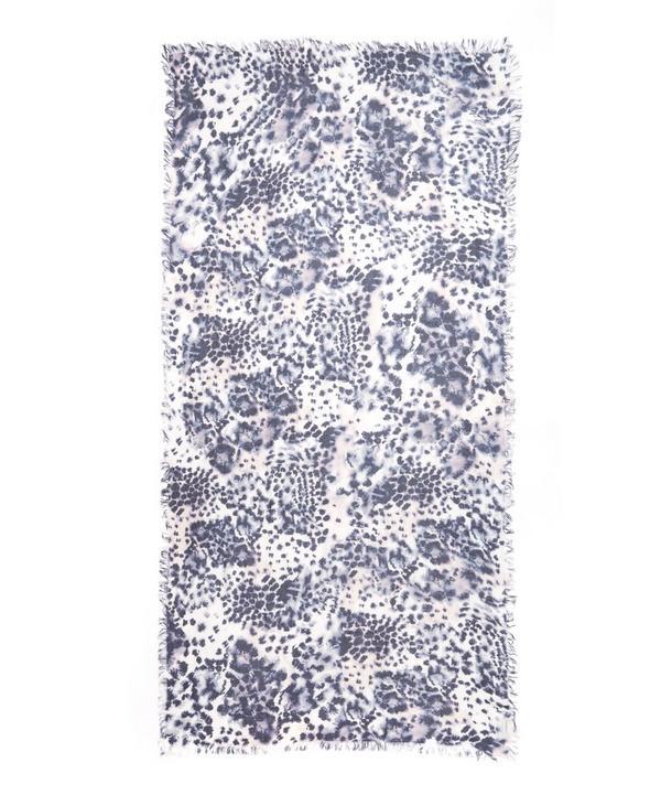 Poppy Print Silk Blend Scarf