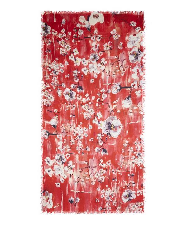 Winnie Orchid Print Silk Scarf