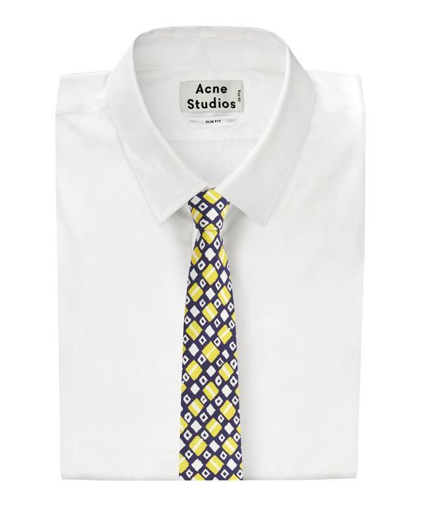 Art Block Print Silk Tie