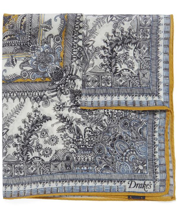 Oriental Garden Pocket Square