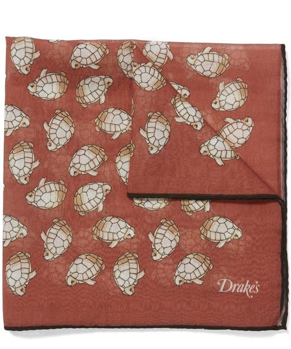 Turtle Print Pocket Square