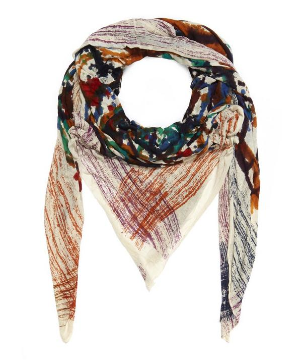 Locky Ink Print Scarf