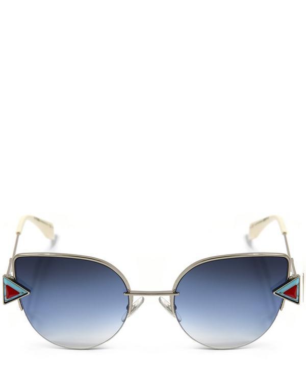 0242S Geometric Cat Eye Sunglasses