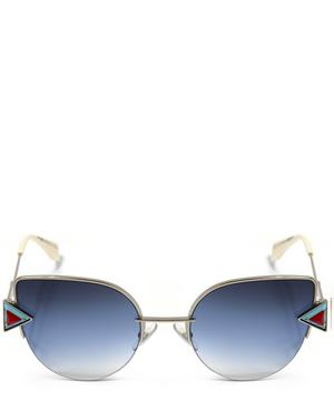 0242S Geometric Cat Eye Sunglasses