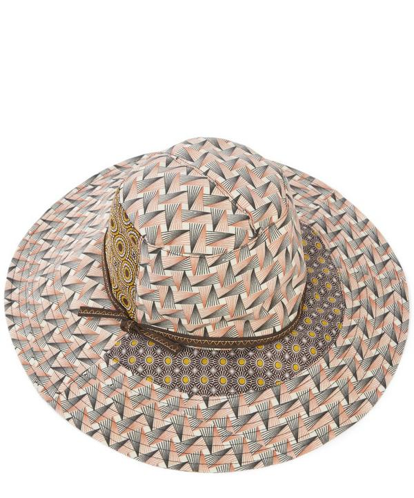 Broom Patchwork Print Cotton Hat