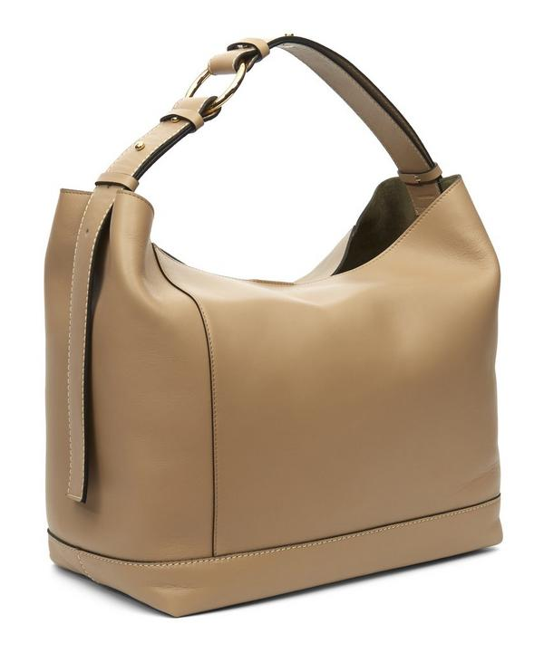 Halo Pod Calf Leather Hobo Bag