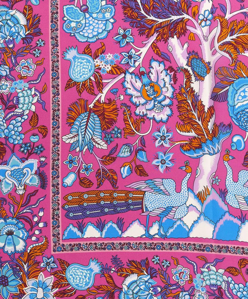 Tree of Life 70 x 200 Silk Crepe de Chine Scarf