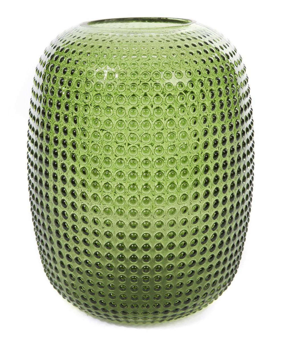 Small Dotted Green Vase