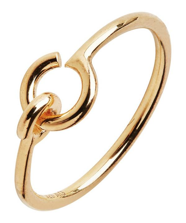 Gold-Plated Hook Ring