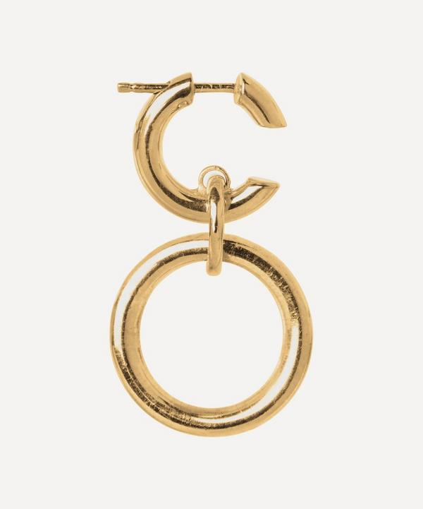 Gold-Plated Dogma Hoop Earring