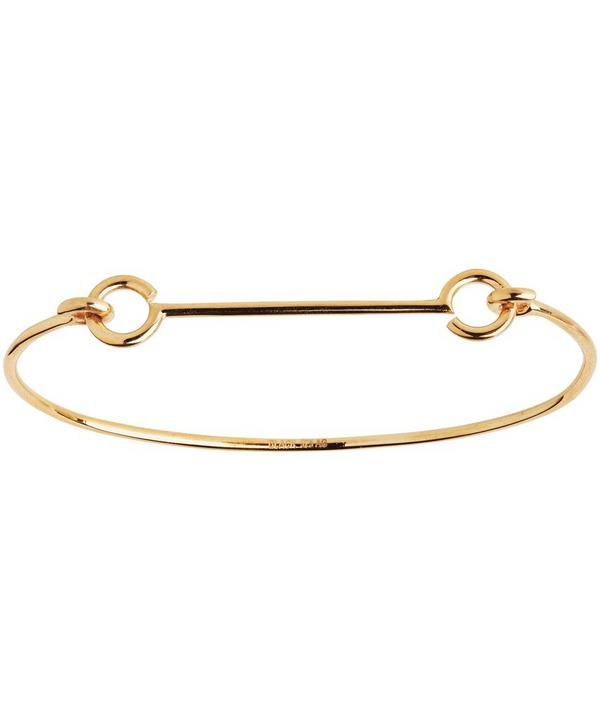 Gold-Plated Bar and Hook Bangle