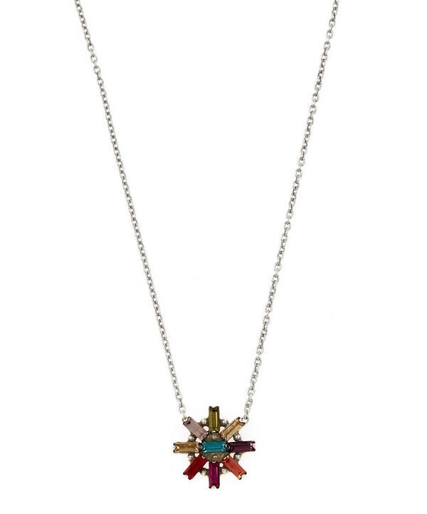 Oxidised Silver-Plated Jana Crystal Pendant Necklace