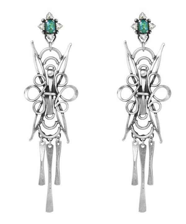 Silver Dharma Drop Earrings